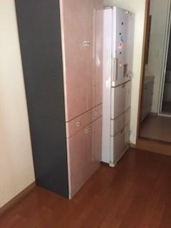 広島市西区で冷蔵庫と扉付き収納庫の回収
