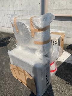 広島市中区でご不要になったエアコンと室外機の回収
