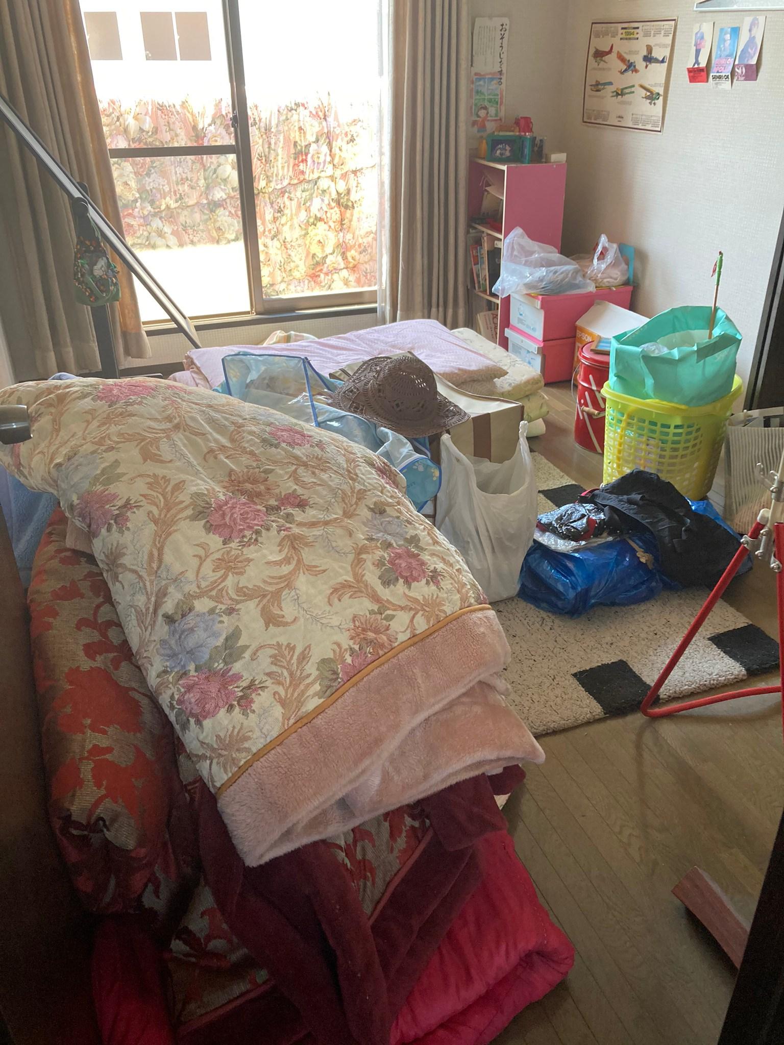 広島市でサービス付き高齢者住宅の退去の不用品回収